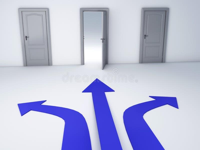 Возможности открыть двери, отборная концепция бесплатная иллюстрация