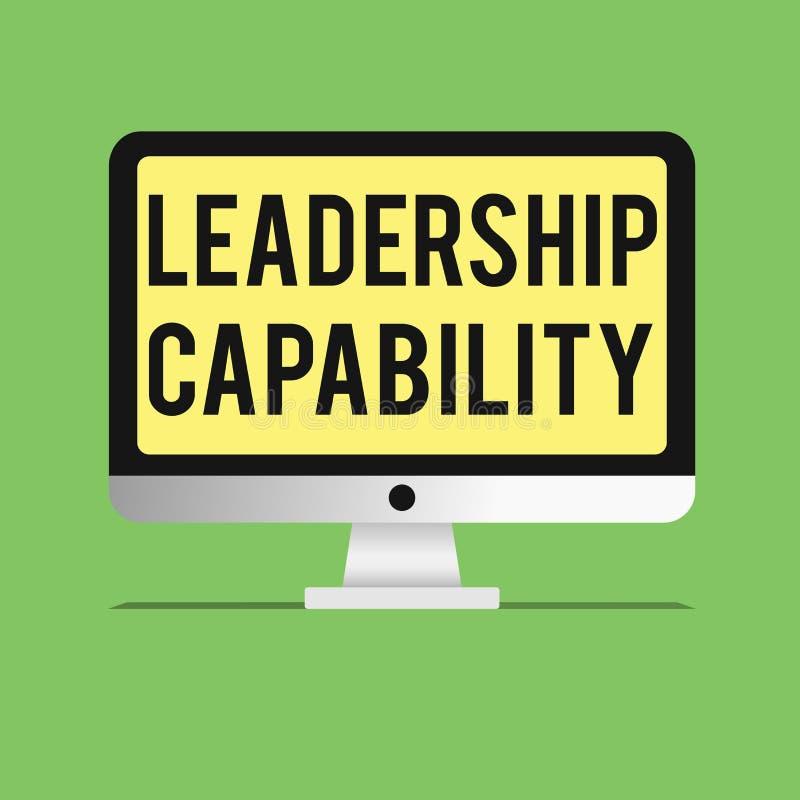 Возможность руководства текста сочинительства слова Концепция дела для какой руководитель может построить емкость привести эффект иллюстрация штока