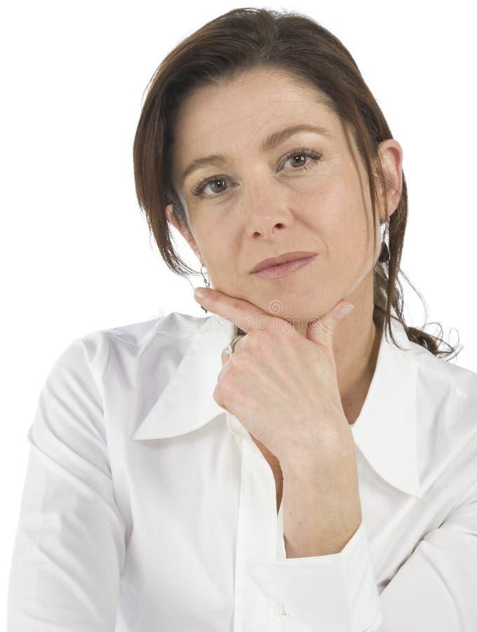 Download возмужалая женщина портрета Стоковое Фото - изображение насчитывающей melts, brights: 6863918
