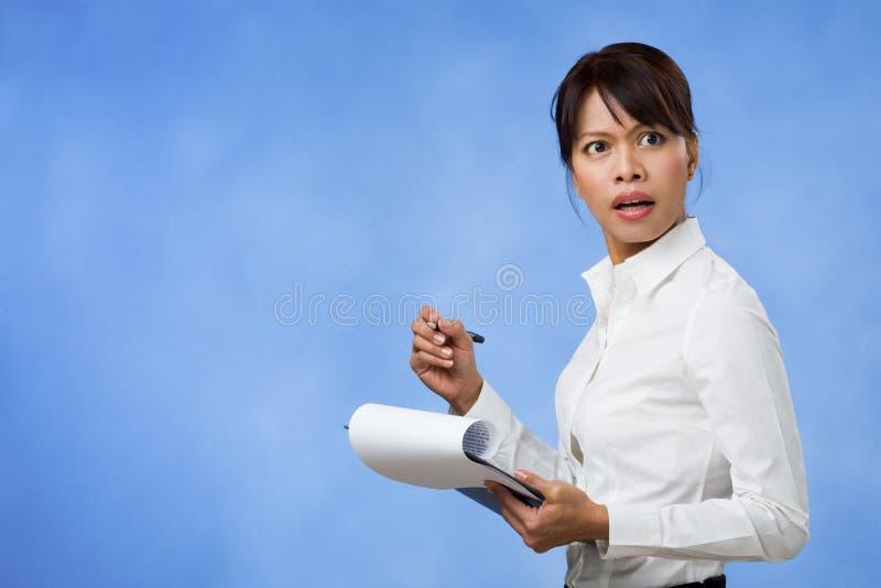 возмутительная секретарша стоковое фото