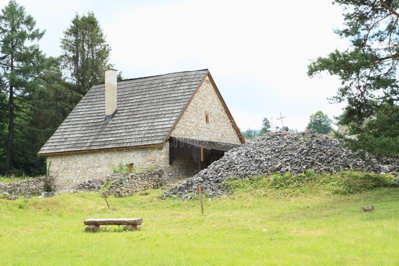Возобновленный дом на монастыре в рае словака стоковое изображение rf