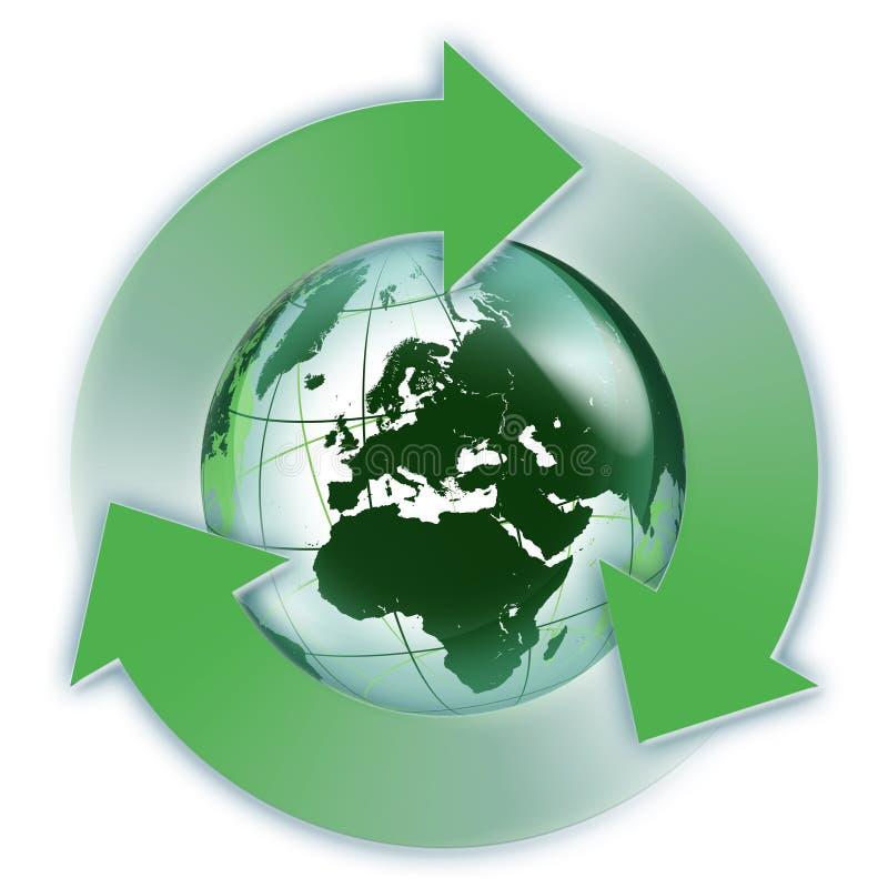 Возобновляющая энергия в Европе иллюстрация вектора