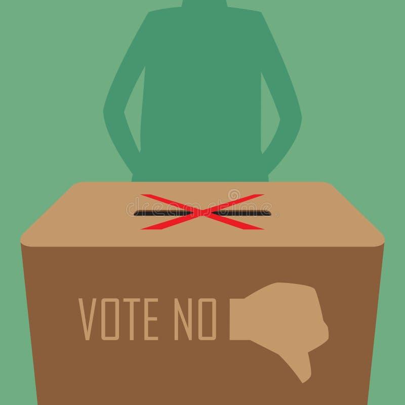 Воздерживается голосование. иллюстрация вектора