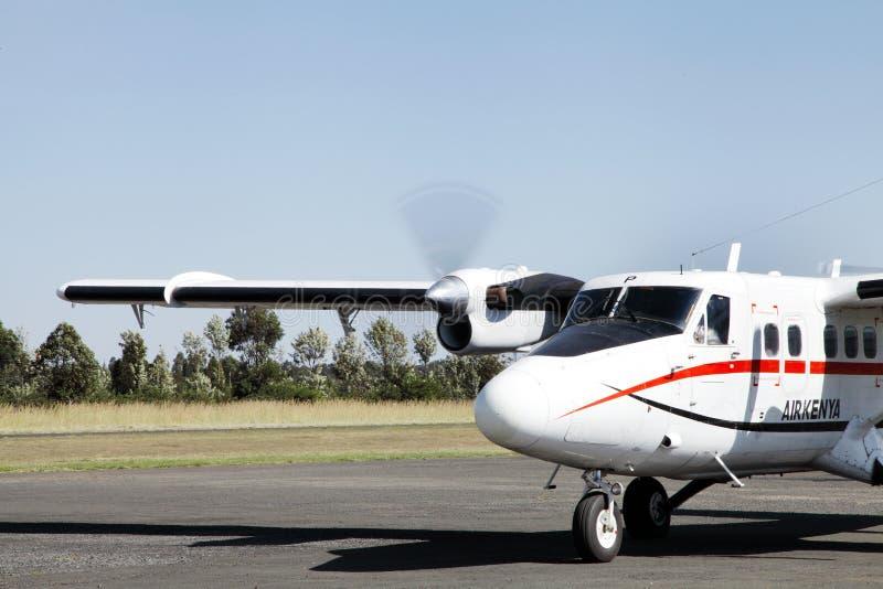 Воздух Кения на авиапорте Nanyuki стоковые фотографии rf
