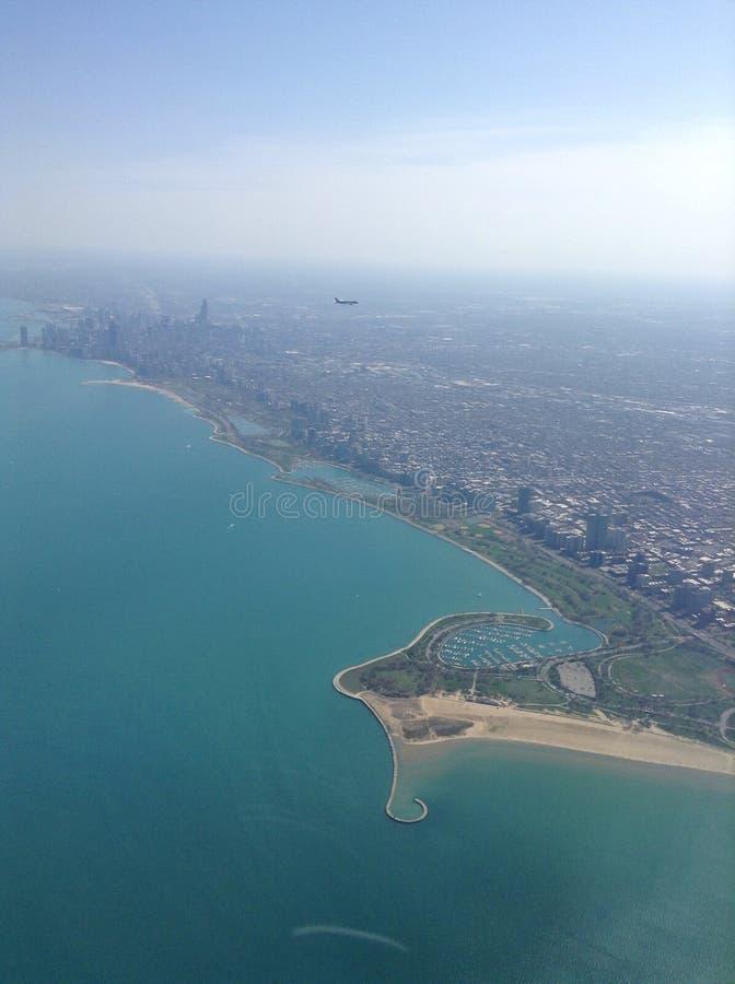 Воздух Чикаго стоковое фото