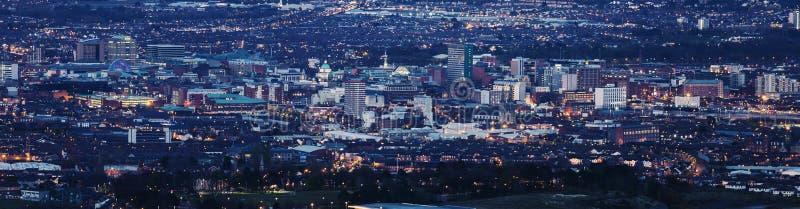 Воздушная панорама Белфаста стоковое изображение