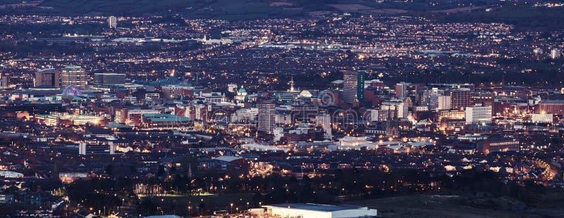 Воздушная панорама Белфаста стоковые фото