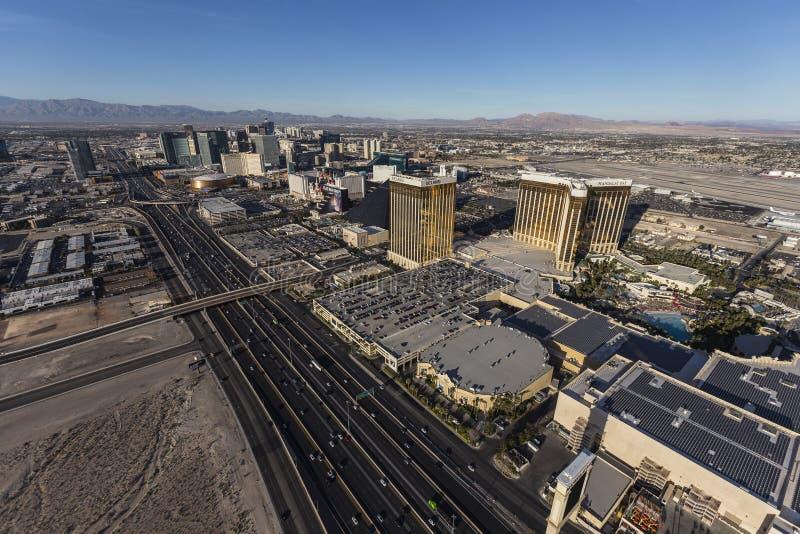 Воздушная прокладка Лас-Вегас и I15 стоковая фотография rf