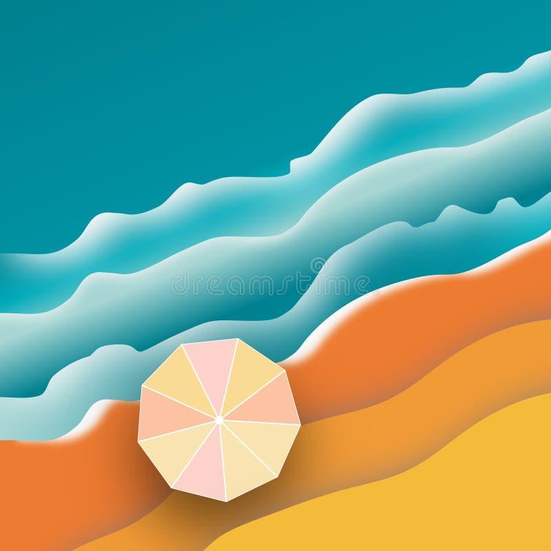 Воздушная сцена пляжа бесплатная иллюстрация