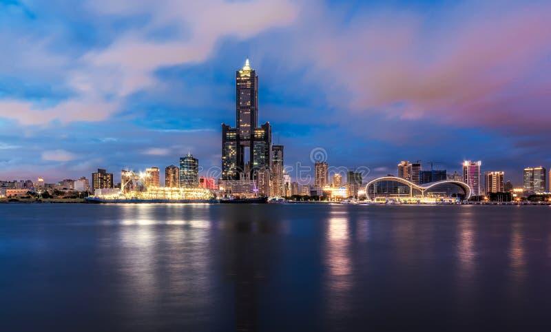 Воздушная съемка города Kaohsiung стоковое фото