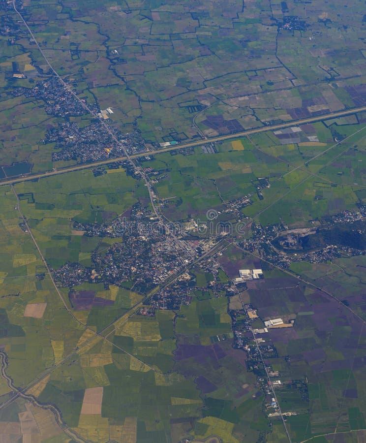 Воздушное изображение города стоковое фото rf