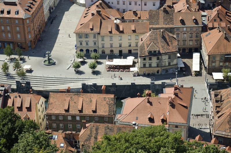 Воздушное фото Любляны, Словении 4 стоковое изображение rf