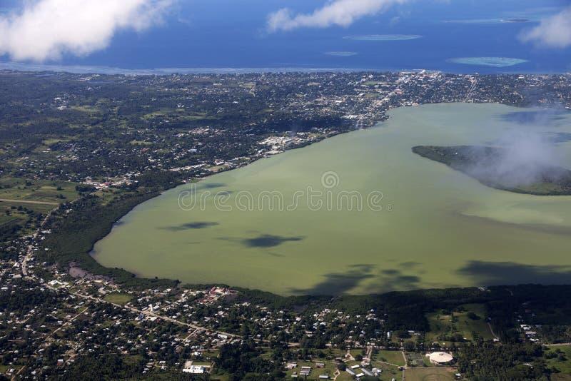 Воздушное Nuku'alofa стоковая фотография