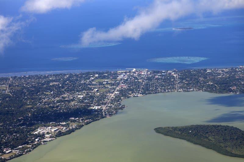 Воздушное Nuku'alofa стоковое изображение
