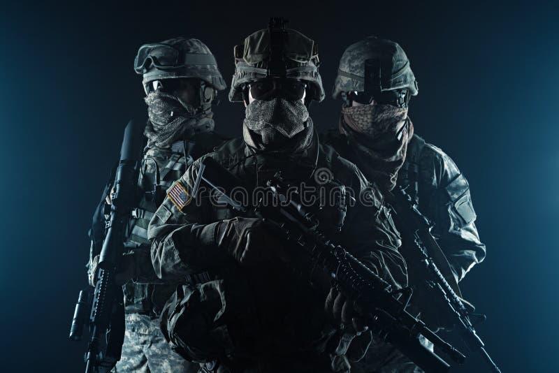 Воздушнодесантная пехота парашютистов стоковое фото