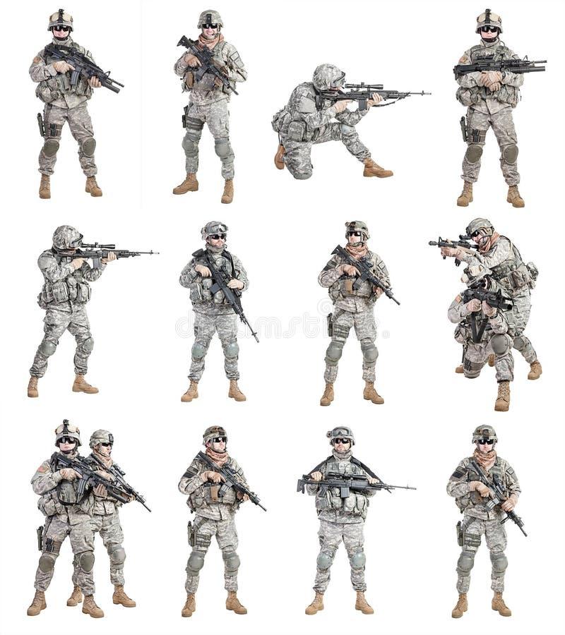 Воздушнодесантная пехота парашютистов стоковые изображения rf
