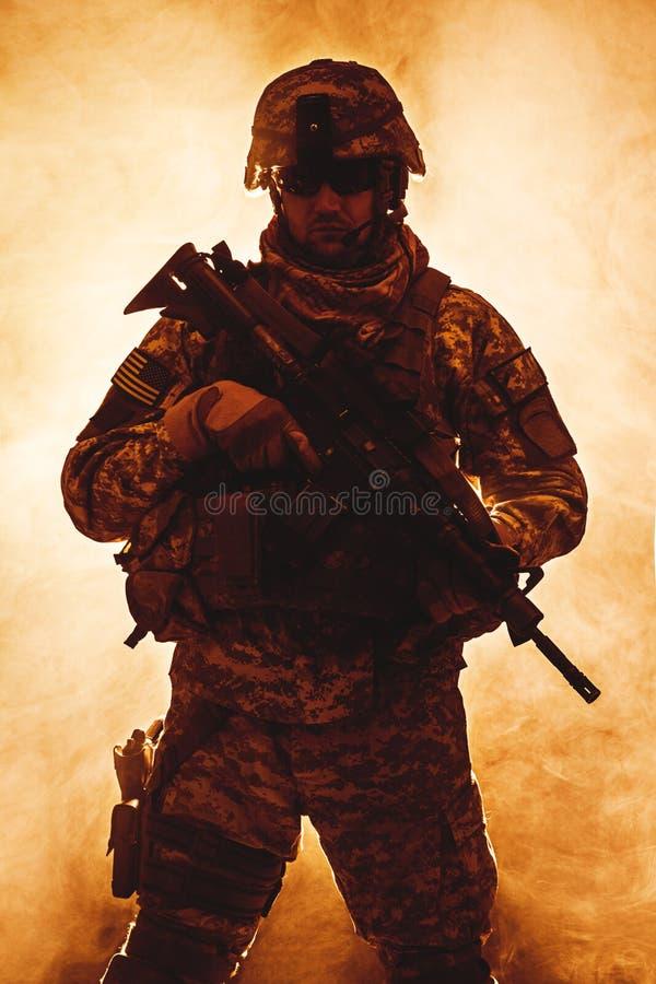 Воздушнодесантная пехота стоковое изображение rf