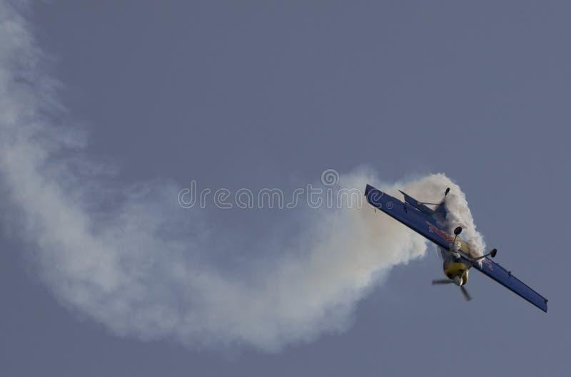 Воздушные судн во время авиасалона стоковые изображения rf