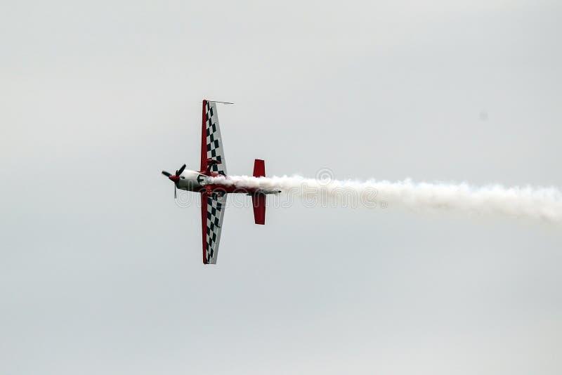 Воздушные судн голубых ангелов в полете стоковое фото rf