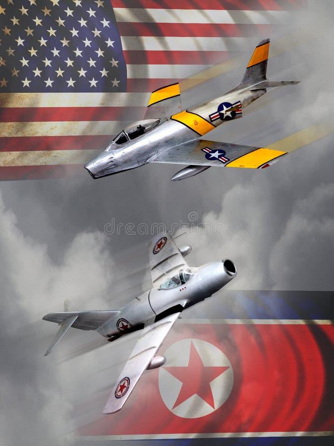 Воздушные судн Корейской войны иллюстрация штока