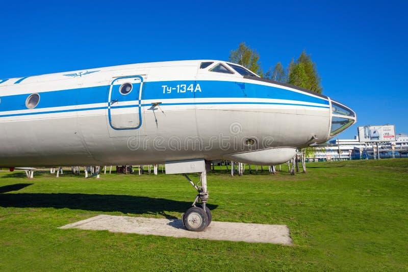 Воздушные судн Туполева Tu-134 стоковая фотография rf