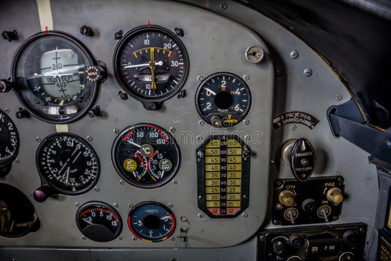 Воздушные судн управлением приборного щитка стоковые фотографии rf