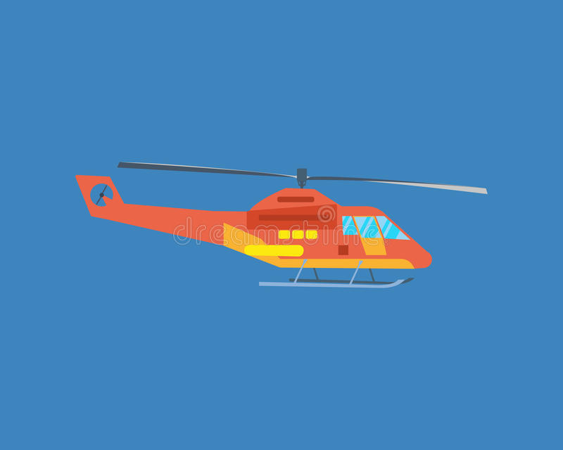 Воздушные транспортные средства Современный вертолет для транспорта пассажира иллюстрация вектора