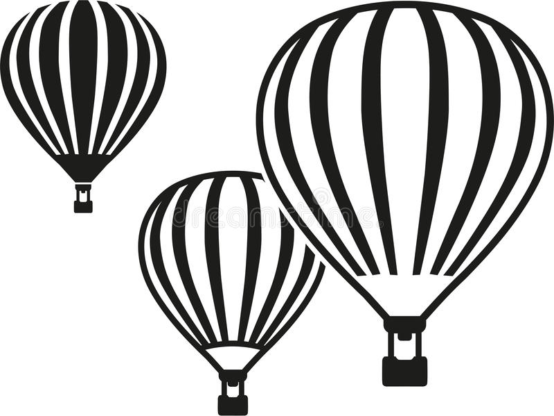 воздушные шары горячие иллюстрация штока
