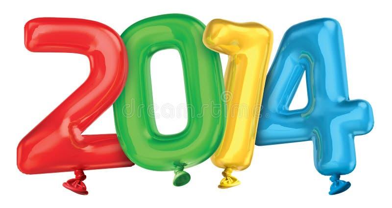 Воздушные шары года 2014 стоковые фото