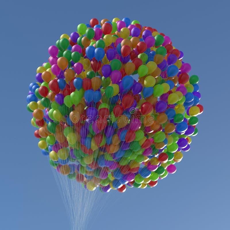 Воздушные шары номеров & символов процента стоковые изображения rf