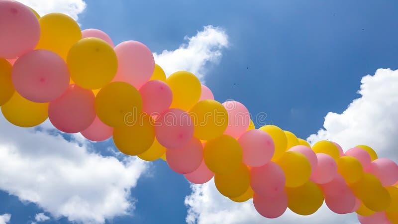 Воздушные шары партии и события стоковые фотографии rf