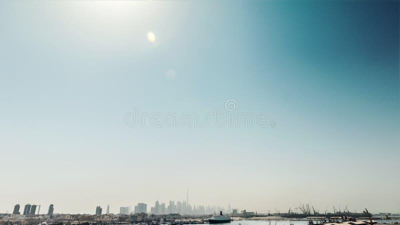 воздушный взгляд Дубай стоковое изображение rf