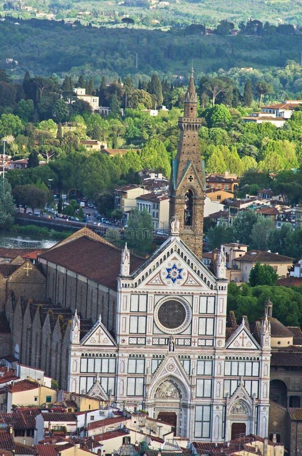 Воздушный взгляд телеобъектива Флоренса от одной из много башен, Тоскана стоковые фото