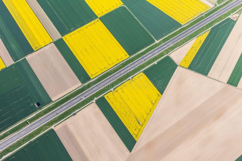 воздушный взгляд хайвея стоковые изображения rf