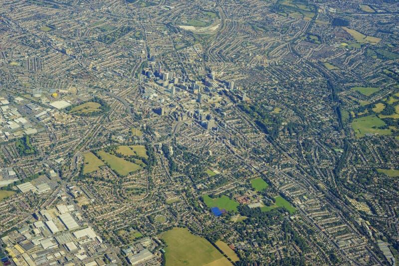 воздушный взгляд london стоковое изображение