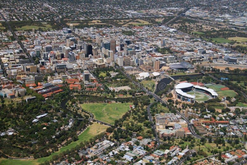Воздушный город Аделаиды стоковое изображение rf