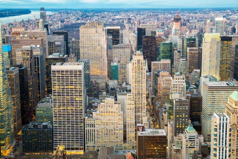 воздушный город New York стоковые фото