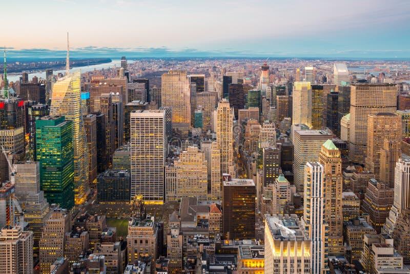 воздушный город New York стоковое изображение rf