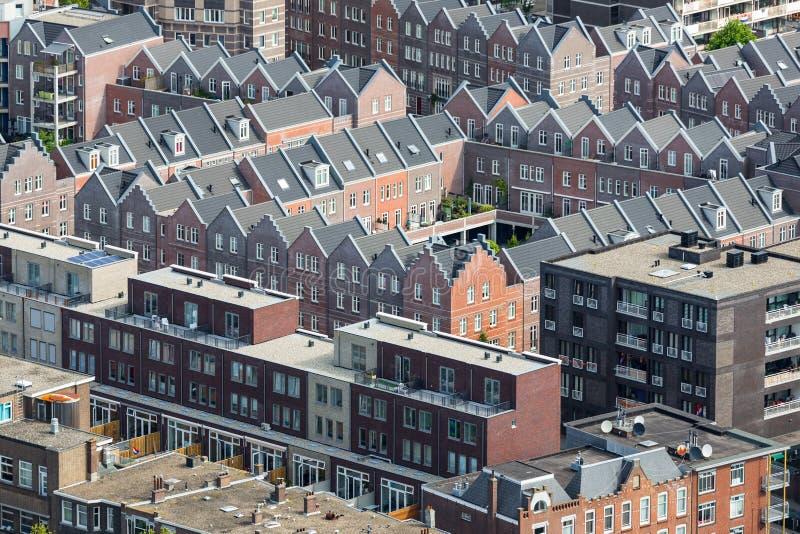 Воздушный жилой район городского пейзажа Гааги, Нидерландов стоковые фотографии rf