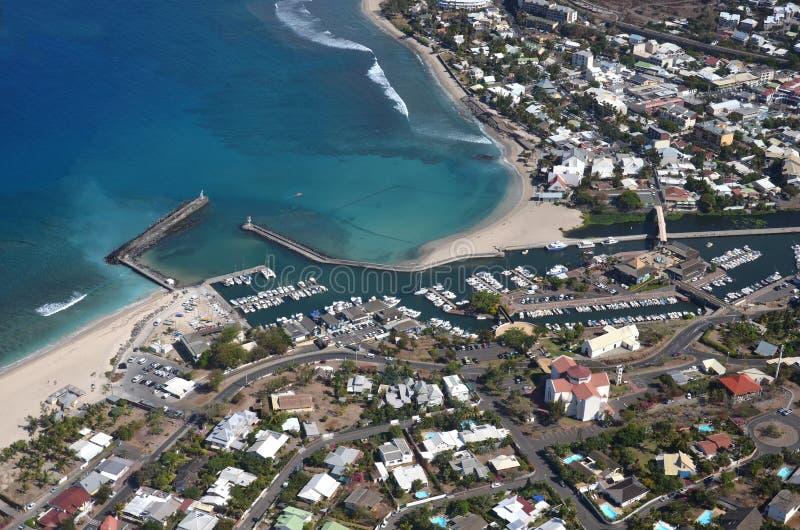 воздушный реюньон острова стоковые фотографии rf