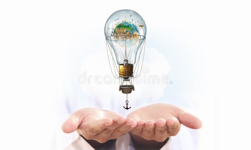 Воздушный шар в руках бога стоковые изображения