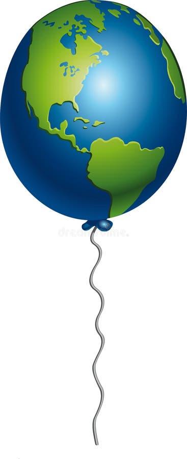 Воздушный шар земли стоковые изображения rf