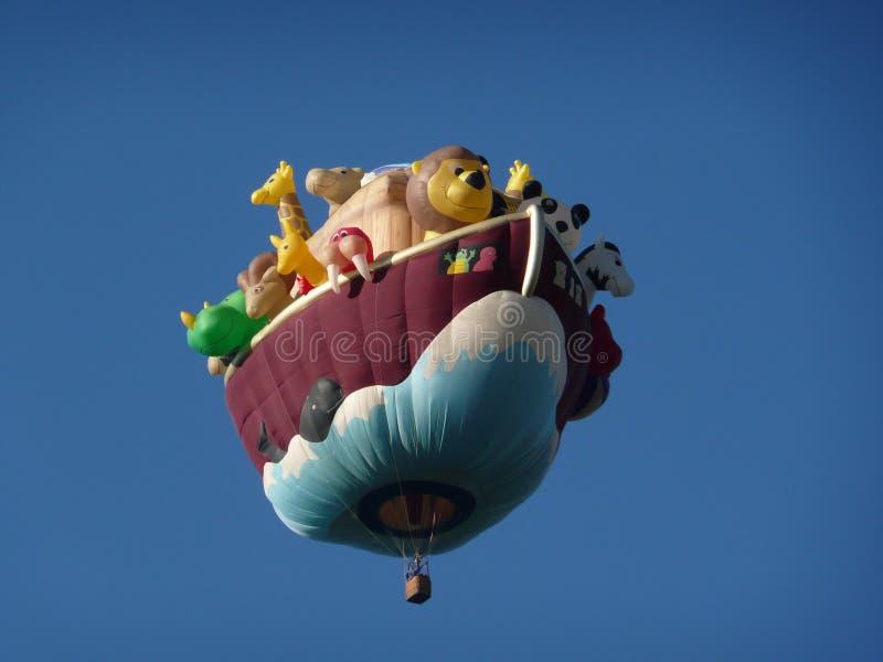 Воздушный шар ковчега Noah горячий стоковое изображение rf