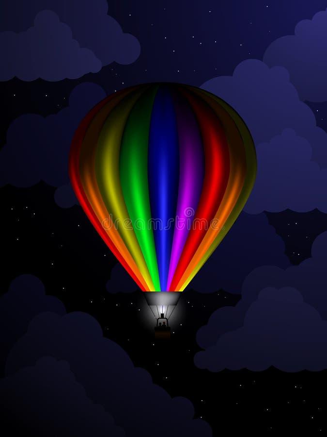 Воздушный шар на ноче стоковые фотографии rf