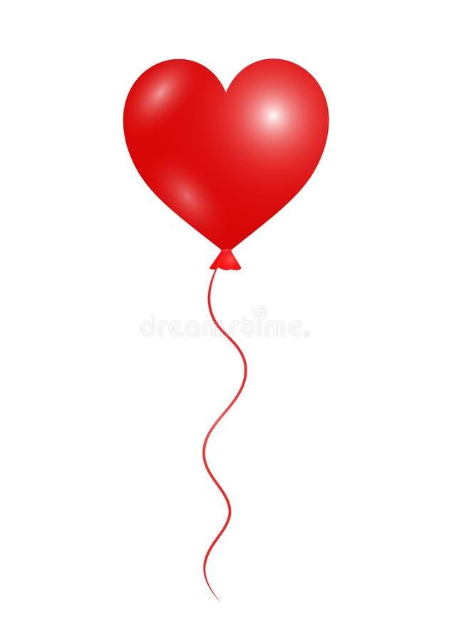 Воздушный шар сердца иллюстрация вектора