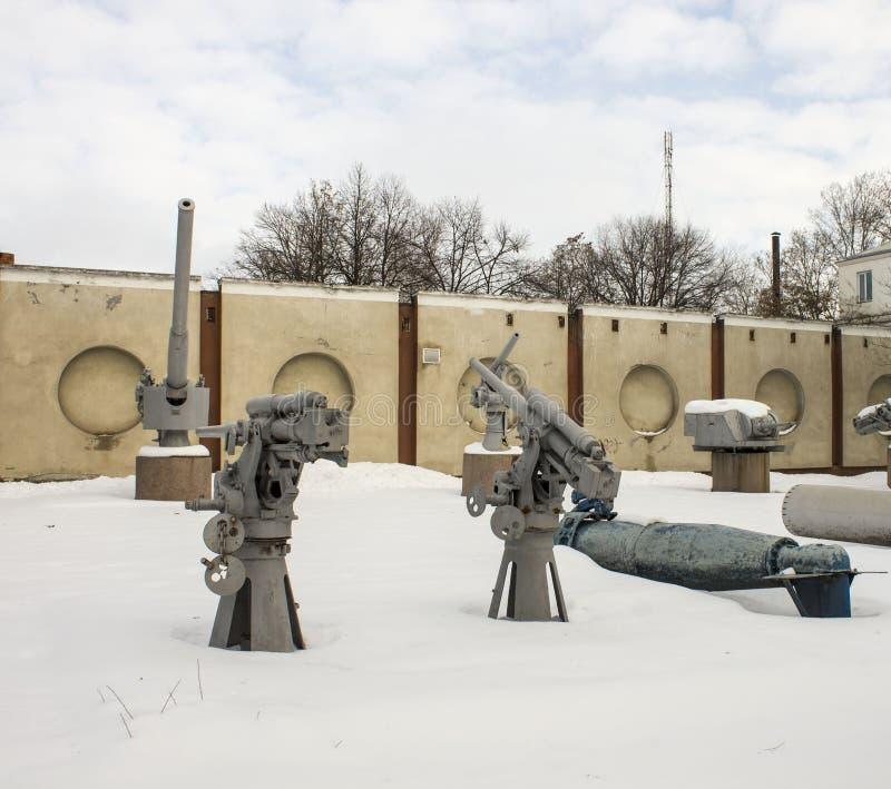 Воинская выставка оборудования музей воздуха открытый стоковое изображение