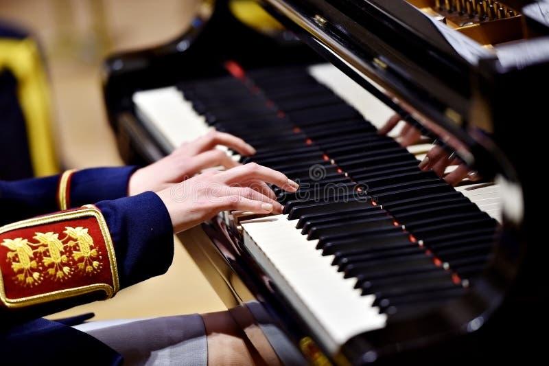 Воинская деталь представления рояля оркестра стоковое фото rf
