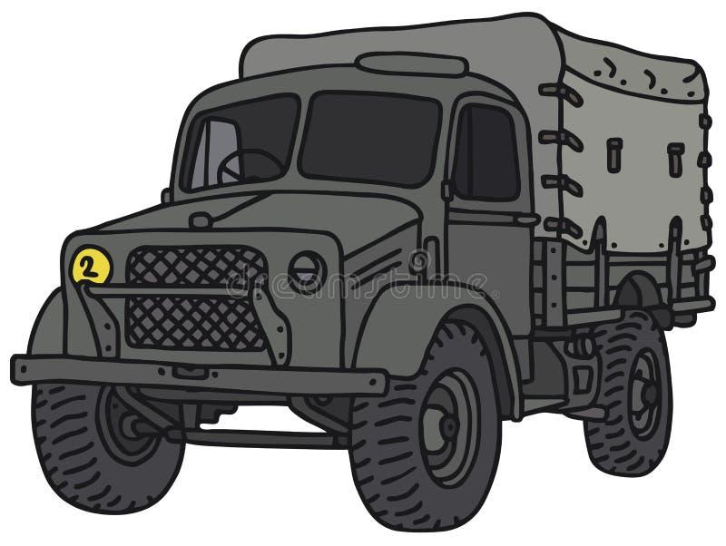 воинская старая тележка иллюстрация штока