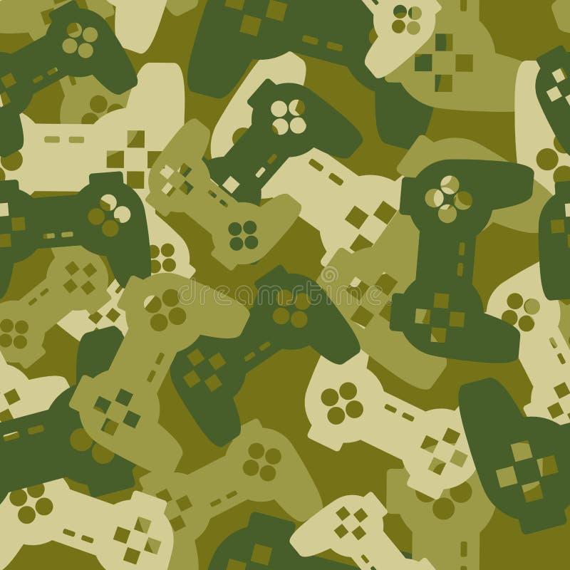 Воинская текстура от кнюппелей игры Картина ga армии безшовная иллюстрация штока