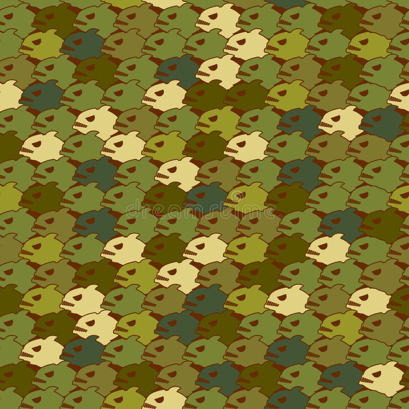 Воинская текстура от Piranha Рыбы зла картины армии безшовные иллюстрация штока